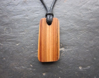 "Natural Wood Pendant - Rowan/Luis - Unique Ogham ""Secret Sigil"" Design."