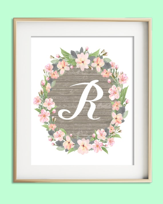Letter r printable instant download baby girl nursery wall for Babies r us wall letters