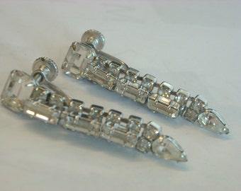 rhinestone earrings  ( B 99 )