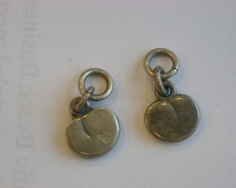 pair of apple or peach charms  ( A 13 )