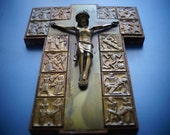 Way of the Cross    Jesus Christ Crucifix   Christianity Cross Made in  solid bronze In Germany