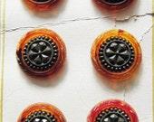 Vintage  Faux Tortoise Button Card