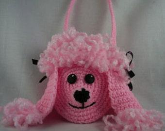 Pink Poodle Purse -  Crochet Pattern - Instant Download