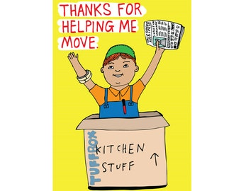 Thank You Card - Thanks For Helping Me Move