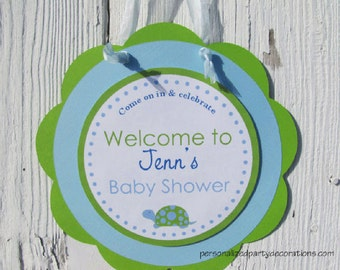 Turtle Baby Shower Sign, Baby Shower Decorations for a Boy, Turtle Baby Shower Decorations, Turtle Decorations, Customized