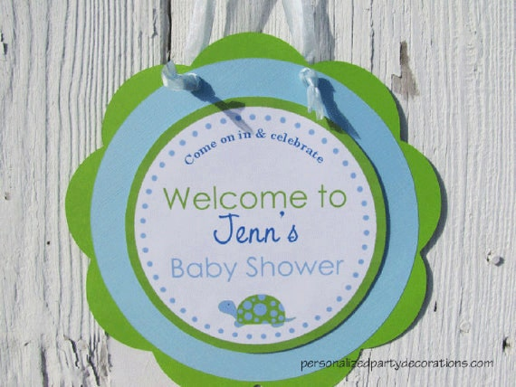 turtle baby shower sign baby shower decorations for a boy turtle