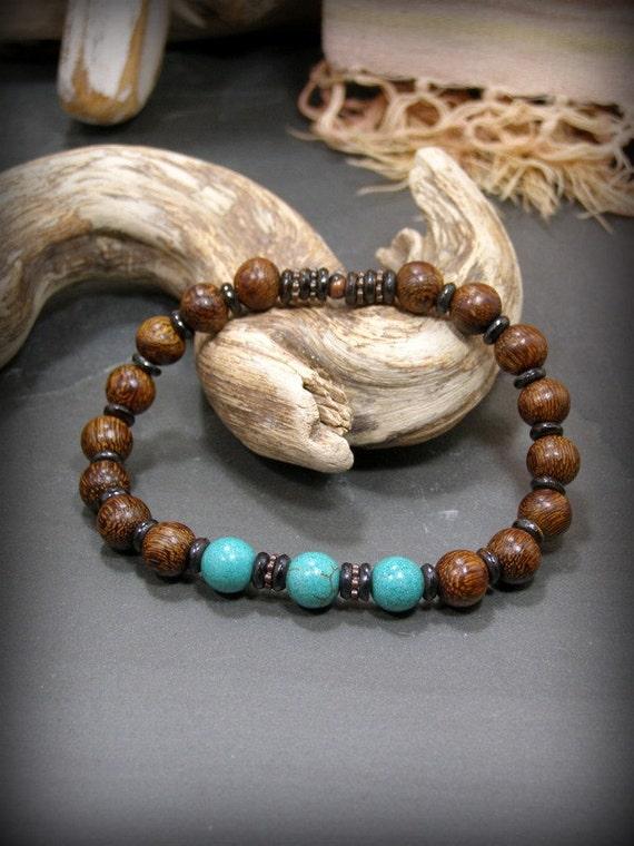 items similar to bracelet for men turquoise bracelet. Black Bedroom Furniture Sets. Home Design Ideas