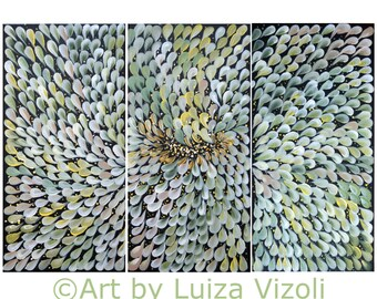 PETALS Flowers Original Floral Painting Daisy  Abstract Minimalist Flowers Canvas 36x24