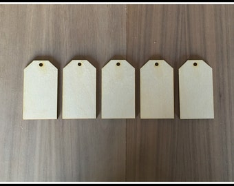 Tag Shapes Large- Laser Cut Wood Tag Shapes Set Of 12