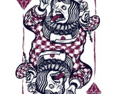 Queen of Diamonds - Silkscreen Art Print - 16 x 20