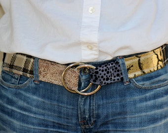 Women's Belt, The Everything Belt, Black, White and Brown, size S/M