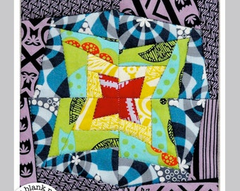 Wonky Stars #218 Paper Pieced Quilt Pattern PDF - 2 Sizes
