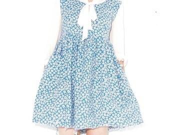 HURRY HALF OFF 90s Daisy Print Dress xs small / 90s grunge skater dress 90s dress floral dress daisy dress mini dress babydoll kawaii summer