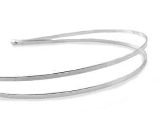Pack of 10 Silver Plated Double Tiara Bases 3mm Wide.