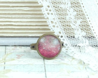 Pink Galaxy Ring Cosmic Ring Adjustable Ring Space Ring Nebula Ring Galaxy Jewelry Orion Ring