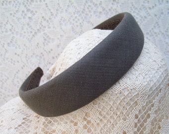 brown linen hairband