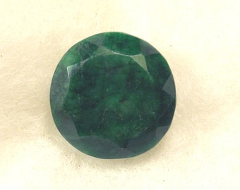 45 carat  .....  faceted emerald gemstone  ...  23 x 12 MM