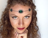 Medieval Circlet in Silver and Emerald