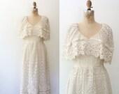 vintage lace dress / cream lace dress / Camilla dress