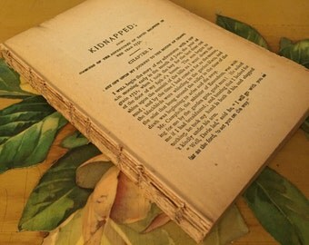 Kidnapped Book Vintage Distressed Binding Salvage Antique Paper