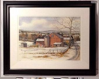 Pearl Slobodian VALLEY HILL FARM Limited Edition Giclee from Watercolor Gicléenew price!