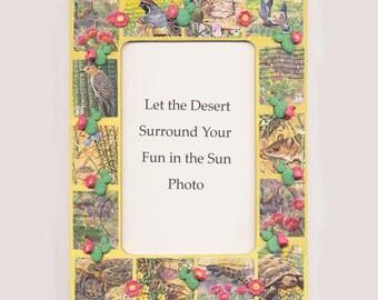 Desert Postage Stamp Picture Frame