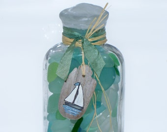 Sea Glass Seaglass Beach Glass in a Bottle Authentic