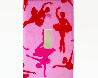 Ballerina Light Switch Cover - Ballet Switch Plate Cover - Girls Pink Ballerina Bedroom - Girls Dancer Room Decor - Girls Dance Room