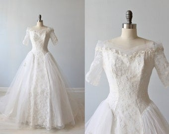 1950s Wedding Dress 50s Lace And Tulle Ballgown Forever