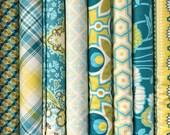 Set of 8, Joel Dewberry fabrics, Notting Hill fabrics, your choice of cut (fat quarter,half yard, or yard cut)