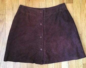 Soft Suede Skirt Sz M