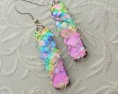 Bohemian Earrings - Boho - Dichroic Fused Glass Earrings - Crystal Earrings - Chandelier Earrings - Prism - Boho - Fused Glass 2257