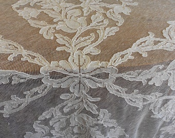 1900's, cotton fishnet banquet table cloth