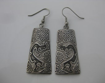 Vintage Kokopelli Sterling Silver Earrings