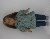 Jeans with Green Tunic Top, Fits 18 Inch American Girl Dolls