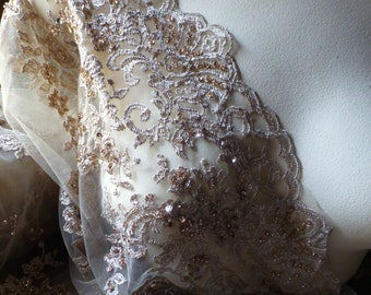 Gold Beaded Lace for GRAD, Bridal, Lyrical, Costume Design