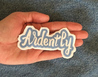 Small Ardently text patch Pride and Prejudice Jane Austen literature Mr. Darcy