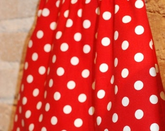 SALE Red White Polkadots Modern A-line Skirt - modern toddler girls clothing - fall fashion - ready to ship - size 4/4T