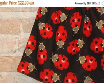 SALE Modern A-line Skirt - Red Ladybugs - toddler girls clothing - fall fashion - made to order - sizes 2T 3T 4 5 6