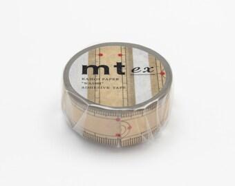 mt ex masking tape - single - bamboo ruler