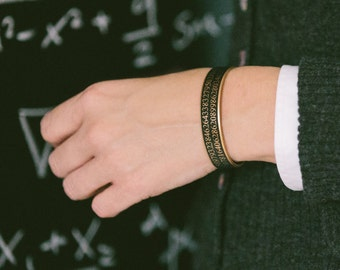 Pi Bracelet - Science Jewelry - Mathematical Cuff Bracelet - Geeky Gift - Math Maths - Gift For Him Or Her - Boyfriend Gift