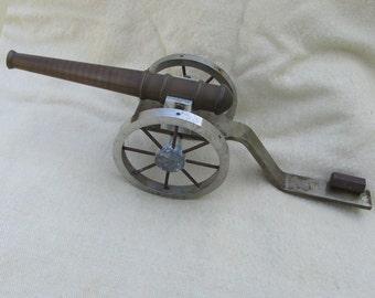 Vintage Cannon Model with Bronze Barrel