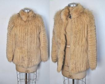 Fox Fur Coat Jacket / BUTTERSCOTCH fox / Medium