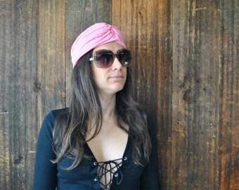 Turban PINK Hat / head scarf / hippie