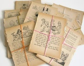 CLEARANCE SALE - 10 x VINTAGE Enid Blyton Book Pages for Junk Journals, Scrapbooking, Papercrafting, Project Life - Shop Closing