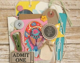 MINI Inspiration Journal Kit, 20pcs, Junk Journal Kit, Daily Planner, DIY Craft Kit, Project Life, Smash Book Kit, Scrapbook Kit - CLEARANCE