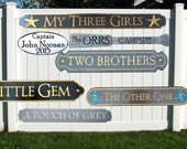 Quarterboards - Name and Address - Camping signs - Beach House signs - Cottage signs - Lake House signs - Distressed signs.
