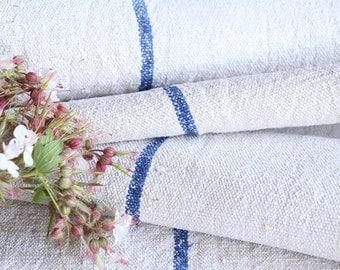 R 173 antique SWEDISH BLUE 2.62yards french lin, upholstery fabric tablerunner cushion wedding decor