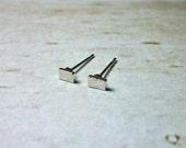 Rectangle Stud Earrings, Dainty Earrings