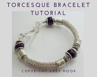 Torcesque Bracelet, Wire Jewelry Tutorial, PDF File instant download